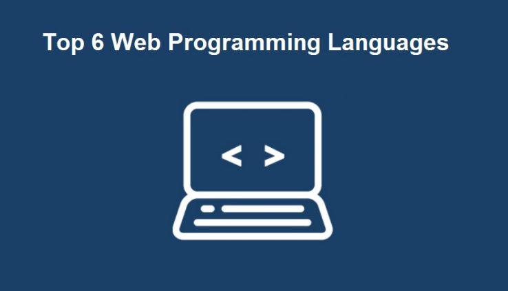 Top 6 Web Programming languages